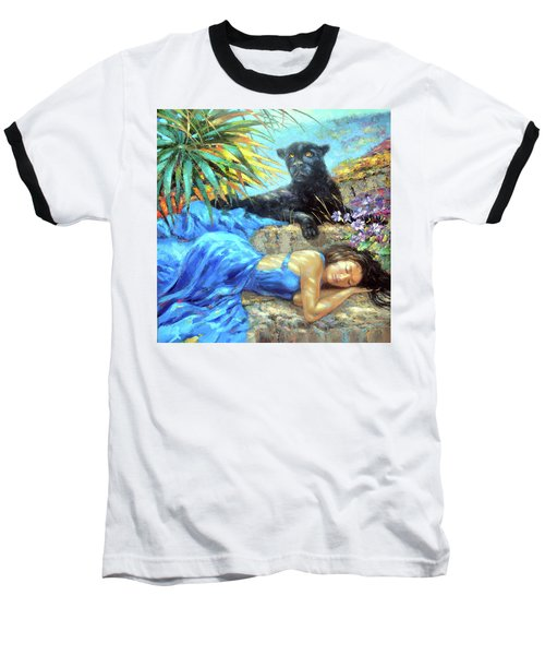 Baseball T-Shirt featuring the painting In One's Sleep by Dmitry Spiros