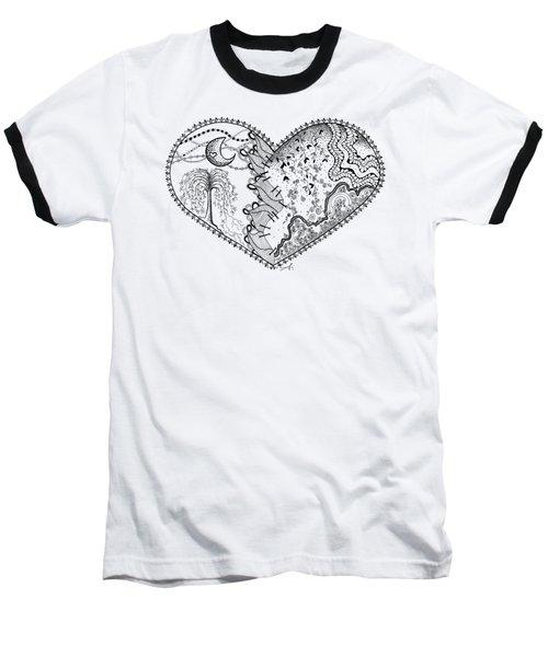 Repaired Heart Baseball T-Shirt by Ana V Ramirez