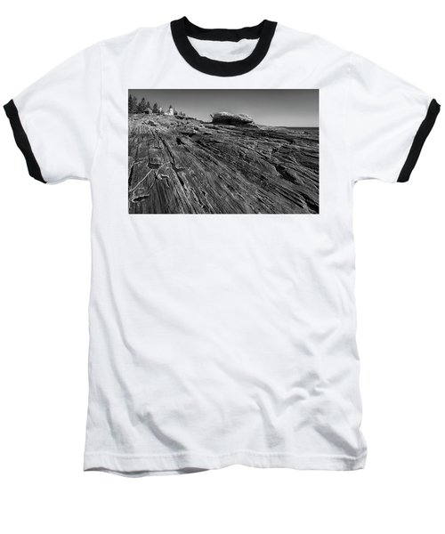 In The Distance Baseball T-Shirt by David Cote