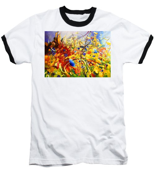In The Meadow Baseball T-Shirt by Georg Douglas