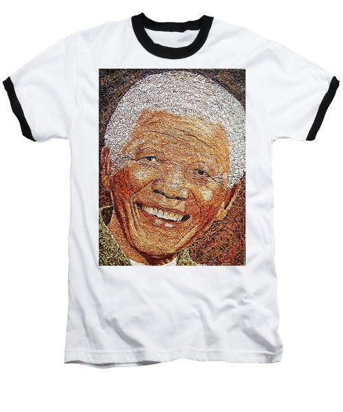 Nelson Mandela - In The Pyramid Of Our Minds Baseball T-Shirt