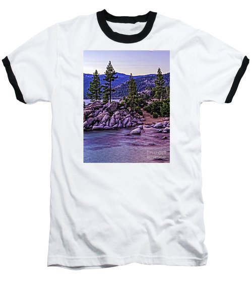 Baseball T-Shirt featuring the photograph In The Still Of Dusk by Nancy Marie Ricketts