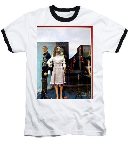 In The Window  Baseball T-Shirt by Gary Bridger
