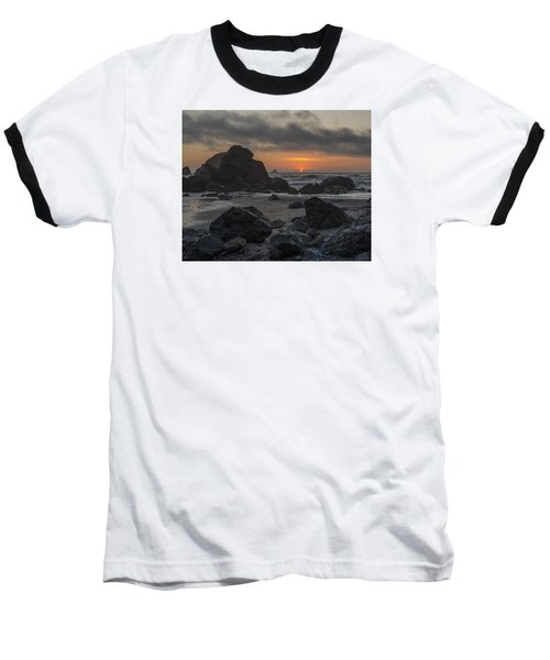 Indian Beach Sunset Baseball T-Shirt