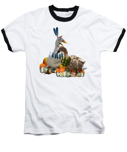 Indian Ducks Baseball T-Shirt by Gravityx9 Designs