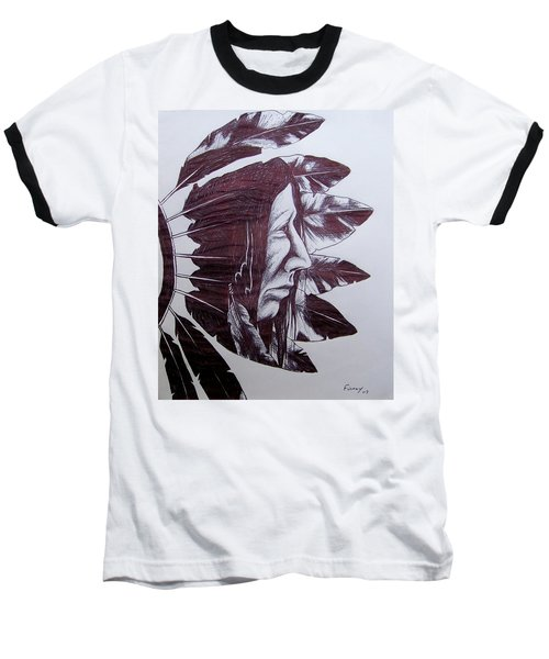 Indian Feathers Baseball T-Shirt