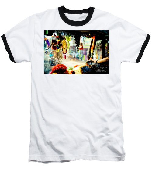 Indian Street From Window In The Bus Kerala India Baseball T-Shirt
