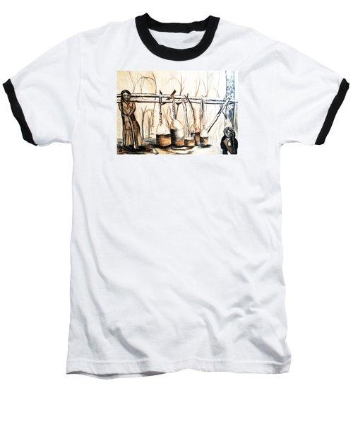 Indians Making Maple Sugar. Cass Lake. 1905  Baseball T-Shirt