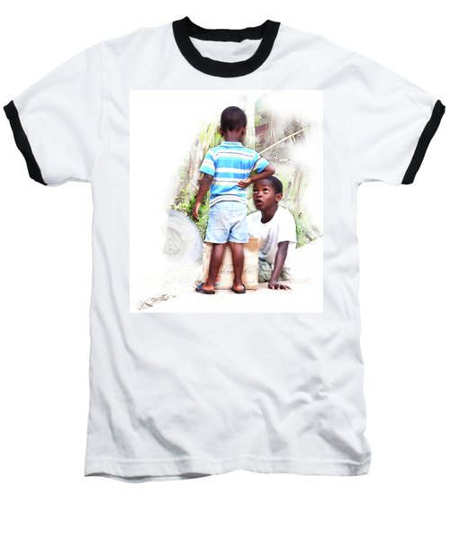 Indigenous Caribbean Kids In Panama Baseball T-Shirt
