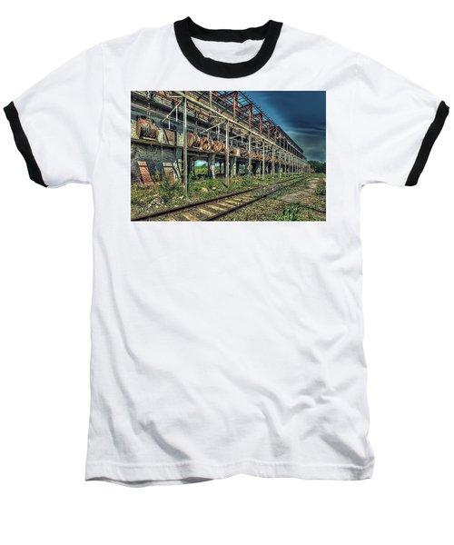 Industrial Archeology Railway Silos - Archeologia Industriale Silos Ferrovia Baseball T-Shirt