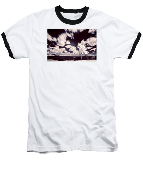 Baseball T-Shirt featuring the photograph Infrared Lake by Odon Czintos