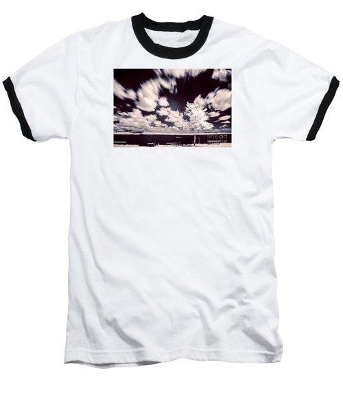 Infrared Lake Baseball T-Shirt by Odon Czintos