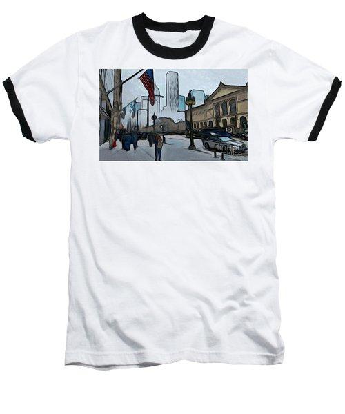 Infrastruction Meltdown Baseball T-Shirt