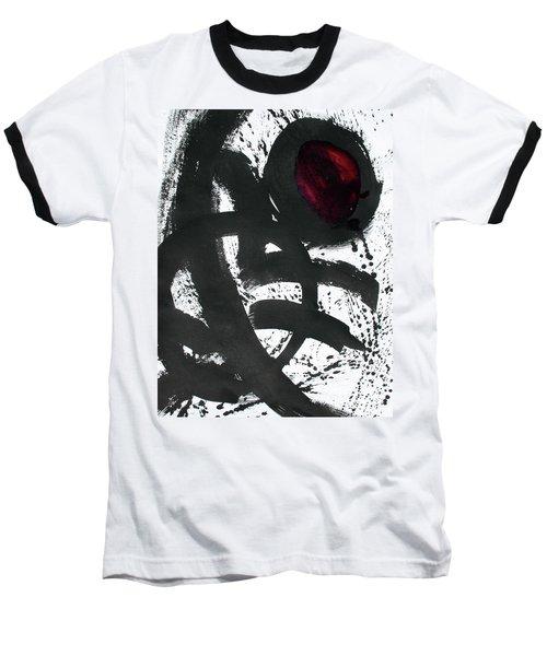 Ink On Paper Rose #2 Vertical Ink Landscape Original Fine Art Ink On Paper Baseball T-Shirt