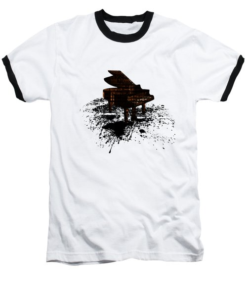 Inked Gold Piano Baseball T-Shirt
