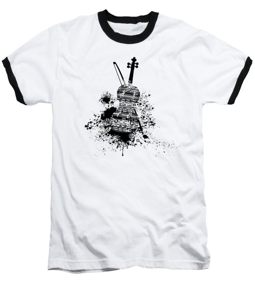 Inked Violin Baseball T-Shirt