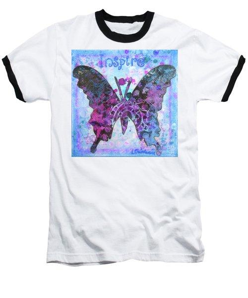 Inspire Butterfly Baseball T-Shirt