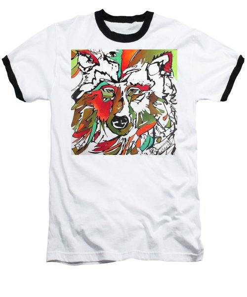 Baseball T-Shirt featuring the painting Intent by Nicole Gaitan