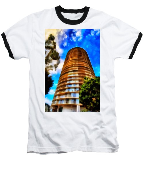 Baseball T-Shirt featuring the photograph International Tower  by Joseph Hollingsworth