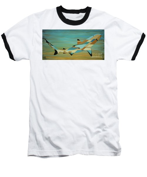Into The Blue Shark Painting Baseball T-Shirt