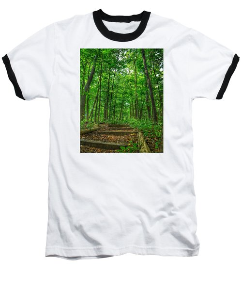 Baseball T-Shirt featuring the photograph Into The Forest by Nikki McInnes
