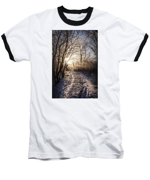 Into The Light Baseball T-Shirt by Annette Berglund