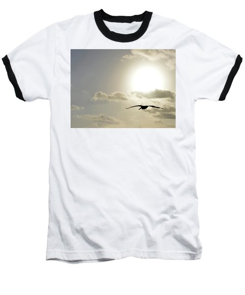 Into The Sun Baseball T-Shirt by Sebastien Coursol