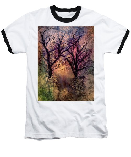 Into The Woods Baseball T-Shirt by Annette Berglund