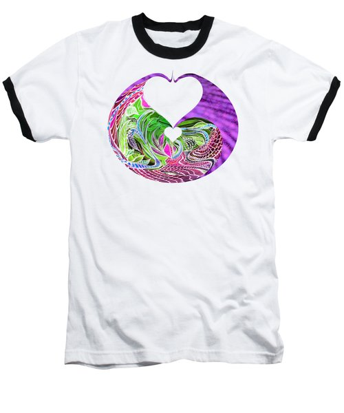 Invert Hearts Baseball T-Shirt by Adria Trail