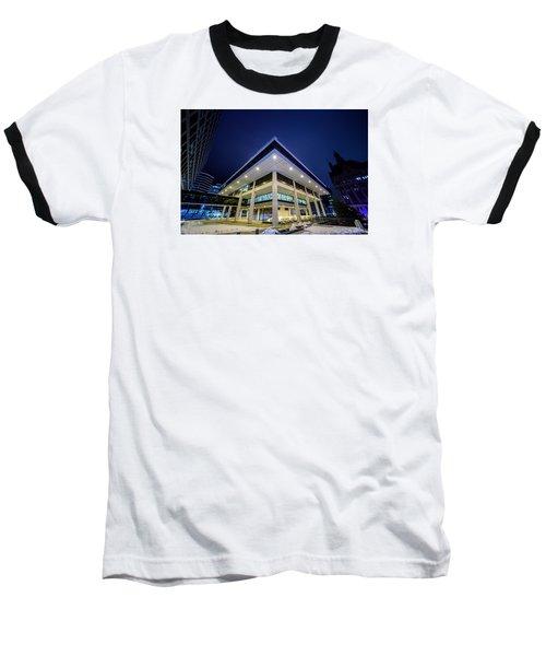 Inverted Pyramid Baseball T-Shirt by Randy Scherkenbach