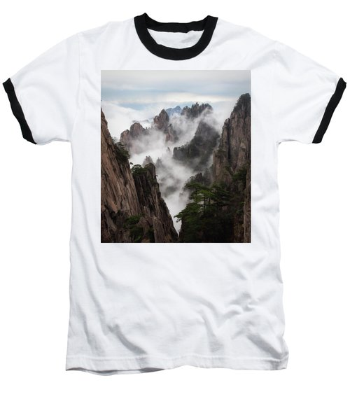 Invisible Hands Painting The Mountains. Baseball T-Shirt