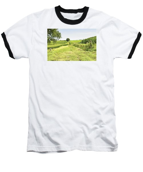 Iowa Corn Field Baseball T-Shirt by Scott Hansen