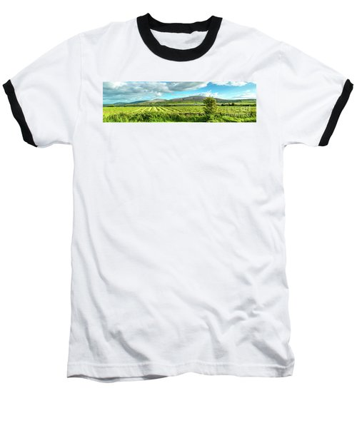 Ireland  - Burren Panorama Baseball T-Shirt by Juergen Klust