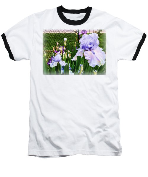 Iris At Fence Baseball T-Shirt