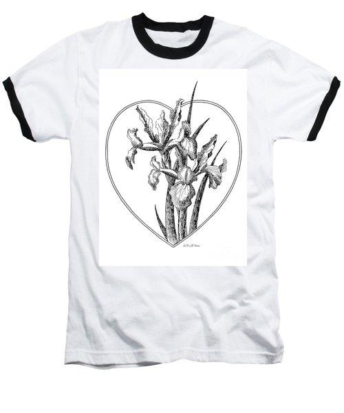 Iris Heart Drawing 3 Baseball T-Shirt