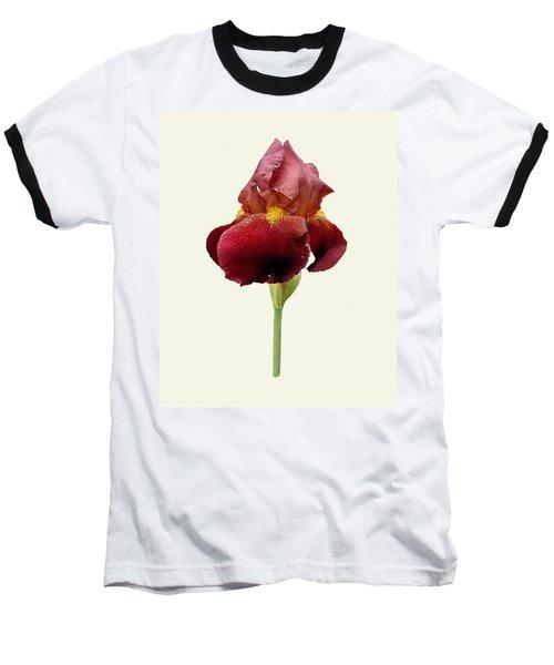 Iris Vitafire Cream Background Baseball T-Shirt