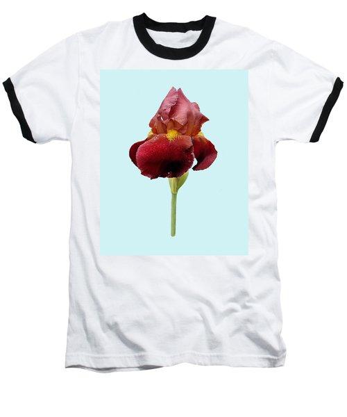 Iris Vitafire Blue Background Baseball T-Shirt