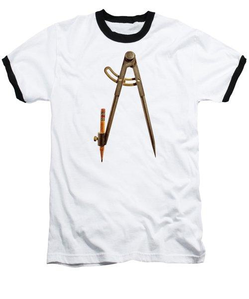 Iron Compass Back Split Color Paper Baseball T-Shirt