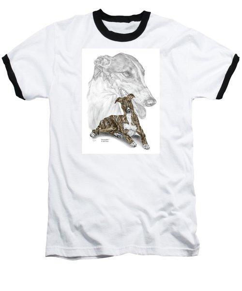 Irresistible - Greyhound Dog Print Color Tinted Baseball T-Shirt