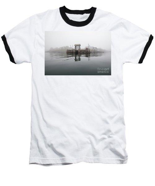 Island Boat Dock Baseball T-Shirt