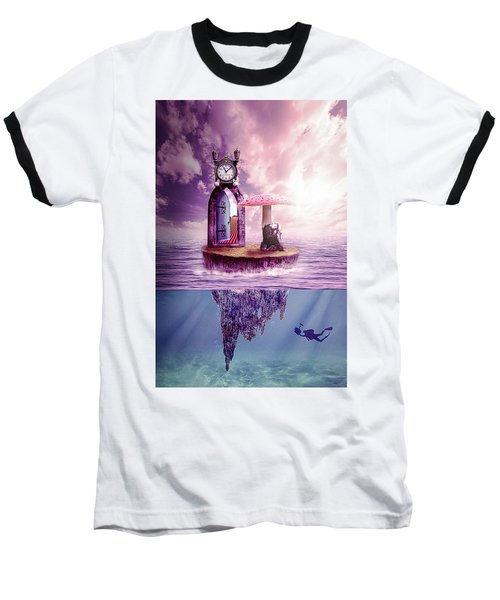 Baseball T-Shirt featuring the digital art Island Dreaming by Nathan Wright