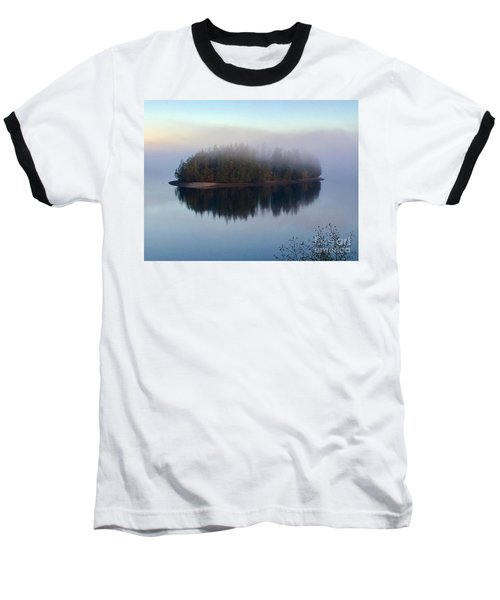 Island In The Autumn Mist Baseball T-Shirt