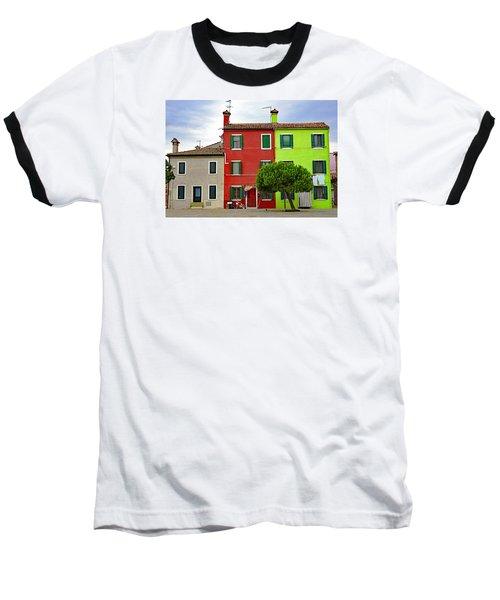 Island Of Burano Tranquility Baseball T-Shirt by Richard Rosenshein