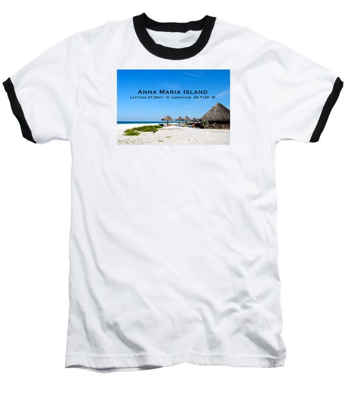 Island Time Baseball T-Shirt by Margie Amberge