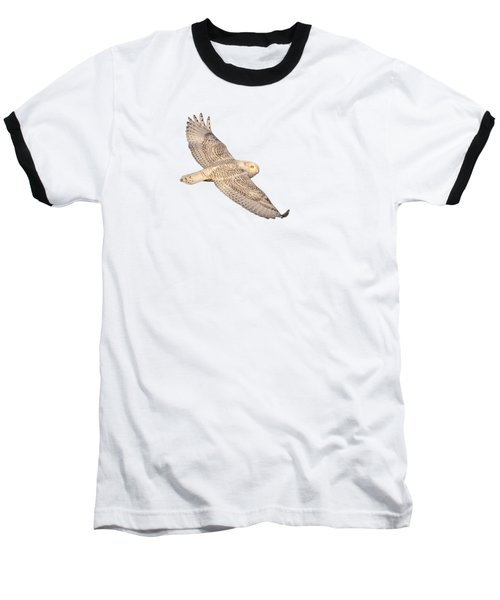 Isolated Snowy Owl 2018-1 Baseball T-Shirt