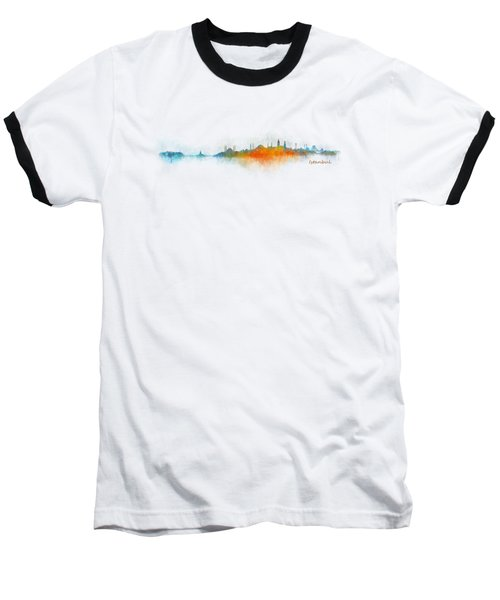 Istanbul City Skyline Hq V03 Baseball T-Shirt