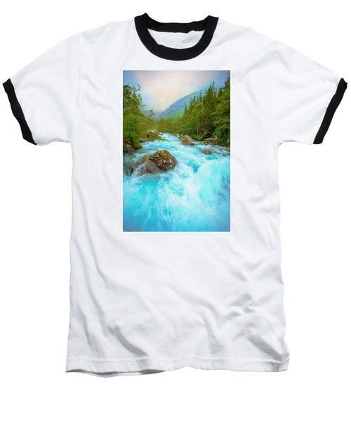Baseball T-Shirt featuring the photograph Istra River by Rose-Maries Pictures