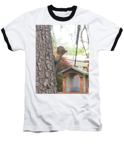 Baseball T-Shirt featuring the photograph It Was Not Me I Tell Yuh by Marie Neder