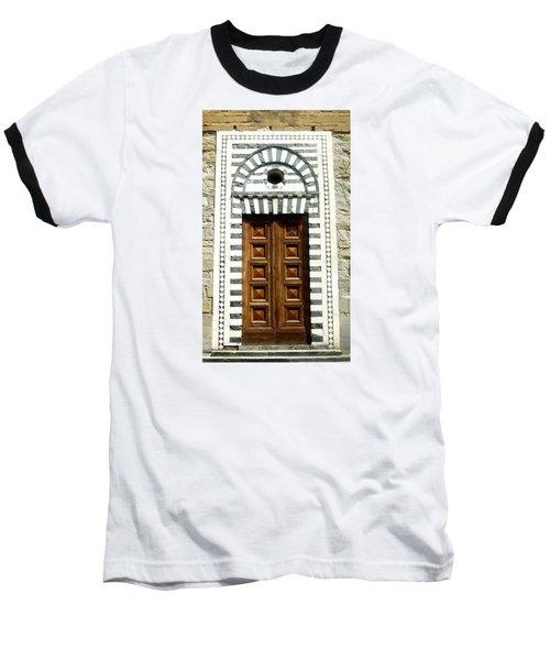 Italy, Door, Florence, Firenze Baseball T-Shirt by Lisa Boyd