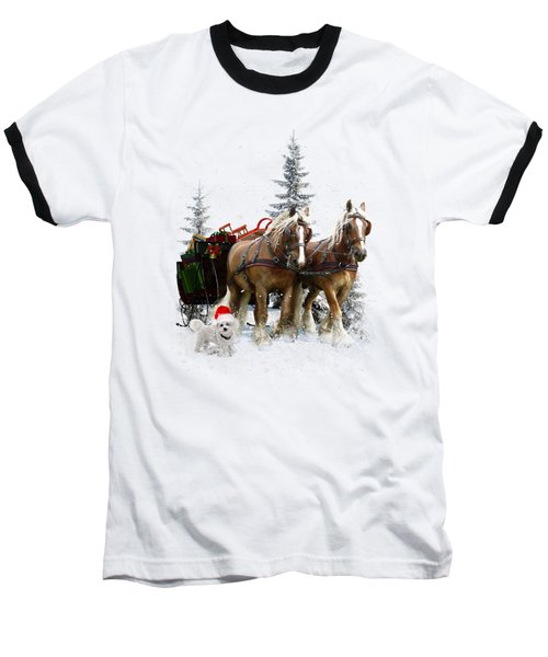 A Christmas Wish Baseball T-Shirt by Shanina Conway